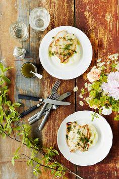 Paistettu kampela ja piparjuuri-perunasose | K-Ruoka #kala