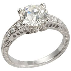 Fine Jewellery Search For Flights 1 1/2 Ct Gia E Vvs2 Natural Cushion Diamond Solitaire Engagement Ring White Gold Attractive Designs;