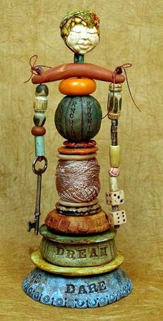 Art Doll totem - Maureen Carlson..purchased the molds to make this... one of my diy projects for 2012 :-)