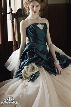 Dresses, Emerald Green Strapless Ball Gown Wedding Dresses: The Eighth Collection Wedding Dresses by Jill Stuart