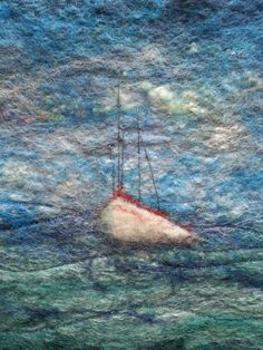 Felted boat by Sue Fraser (Wooliebacks)