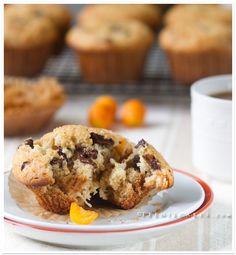 Kumquat & Chocolate Chunk Muffins with Cardamom, Coconut & Honeyed Oats