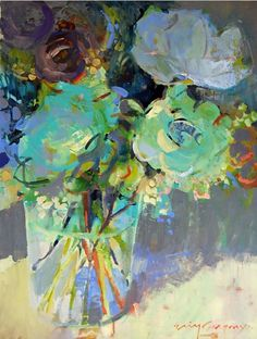 ❀ Blooming Brushwork ❀ - garden and still life flower paintings - Erin Gregory