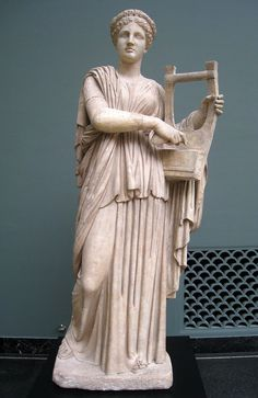 Marble statue of Erato from Monte Calvo in Italy. 2nd century AD. From the collection of the Ny Carlsberg Glyptotek. Item number IN 1566.