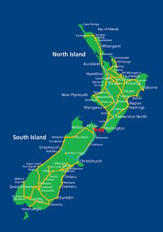 New Zealand Rail Map
