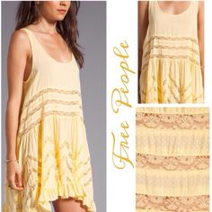 Free People Printed Lace Slip Dress Beautiful magnolia trapeze slip dress by Free People features an asymetrical hem with ruffle trim, sheer lace inset details, easy pull-on style, relaxed fit Free People Dresses Mini