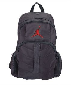 ec0f5ba6efc4 Nike Jumpman Backpack Michael Jordan  This Nike Jumpman backpack is in  black with red Jumpman logo. It has a center opening and two front pockets  as well as ...