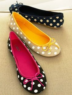 Polka Dot Flats For Trend Lovers! - http://www.stylishboard.com/polka-dot-flats-for-trend-lovers/