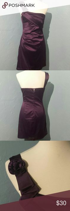 """Adorable Purple """"As U Wish"""" Dress BEAUTIFUL PURPLE  DRESS.  Mini Off-Shoulder with gathers and pleats dress for that special occasion. As U Wish Dresses Mini"""