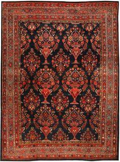 Antique Bidjar Persian Rug Nazmiyal 43570