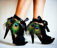 """il ventaglio di piume: Moda """"ispirazione pavone"""" (3): scarpe"""