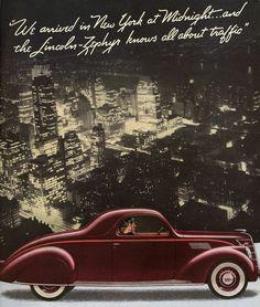 Lincoln Zephyr advertisement (1937)