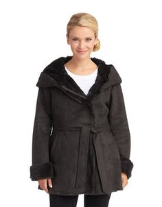 Brands   Faux Fur   Faux Fur Lined Coat   Lord and Taylor