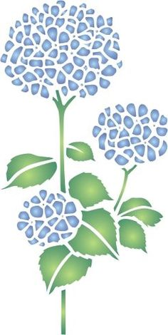 Stencil Templates, Stencil Patterns, Stencil Painting, Stencil Designs, Mosaic Patterns, Fabric Painting, Stenciling, Hortensia Hydrangea, Mosaic Art