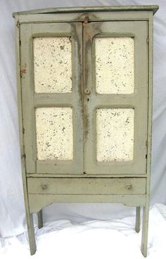 Antique Diminutive Punched Tin Painted Wooden Pie Safe | eBay