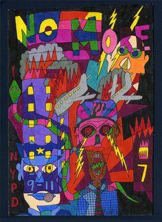 Mit «Alcoholic Outsider Recovery Insane Art» bezeichnet der 1958 geborene, gemäss seiner Aussage, ursprünglich alkoholkranke Parker Lanier, seine Arbeit. (Diese Arbeit ist, neben zahlreichen Arbeiten weiterer Künstler auf www.aussenseiterkunst.ch oder www.artbrut.li).