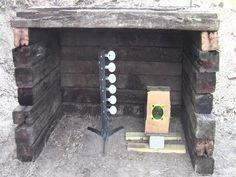 Build a Small Backyard Shooting Range Gun Shooting Range, Outdoor Shooting Range, Outdoor Range, Shooting Guns, Shooting Sports, Outdoor Areas, Shooting Practice, Shooting Targets, Archery Targets
