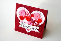 Cute Valentine's Day card created by Marieet Michael (I think) using Basic Grey products.