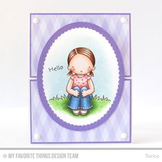 Spring Friends, Spring Friends Die-namics, Stitched Oval Scallop Frames Die-namics, Oval STAX Set 2 Die-namics - Torico  #mftstamps