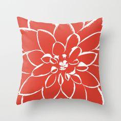 Dahlia Fiesta Throw Pillow  | Pantone color of the year 2016