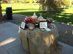 Candy buffet with tons of different candy