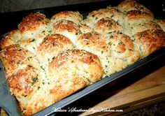 Melissa's Southern Style Kitchen: Garlic-Parmesan Cheese Pull Apart Bread