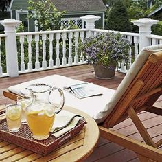 rooftop deck above screened porch for 2nd floor bedroom