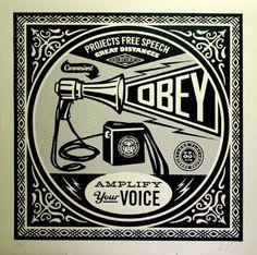 Shepard Fairey - Megaphone | Serigraph | P.P. 1/2 | 42x42 in