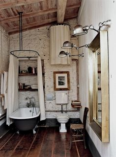 Vintage Decor Rustic Lovely DIY Rustic Bathroom plans you might copy for your bathroom decor Vintage Rustic Barn Bathroom Barn Bathroom, Bathroom Plans, Rustic Bathroom Decor, Rustic Bathrooms, Bathroom Interior Design, Home Interior, Modern Bathroom, Rustic Decor, Bathroom Ideas