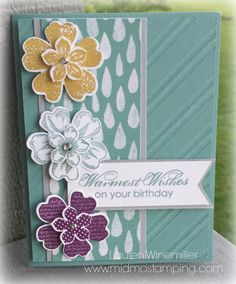 Stampin' Up! Blooming with Kindness, Flower shop, Moonlight dsp www.midmostamping.com