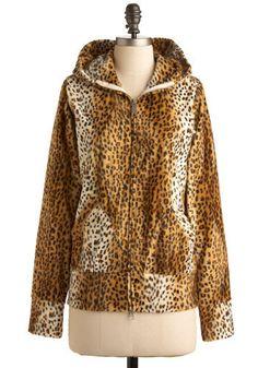 Sweat à capuche fausse fourrure léopard. Modcloth, 68$