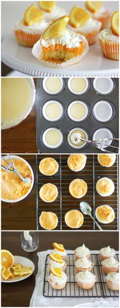 Incorporate the classic flavors of an orange sherbet ice-cream pop into a frosty layered cupcake.
