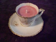 Candle/Soy/Antique/Demitasse/Pink Grapefruit by WineandDineCandleCo on Etsy
