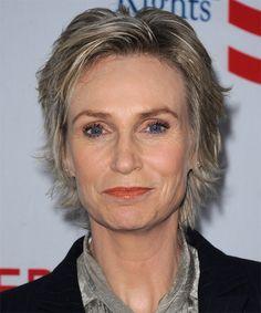 Jane Lynch Short Straight Hairstyle - Dark Blonde (Ash)