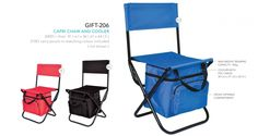 ARM GIFT-206 Capri Chair & Cooler chair: 41 ( w ) x 36 ( d ) x 64 ( h ) cooler with PVC lining: 30 ( w ) x 21 ( d ) x 26 ( h ) / zippered front compartment colour co-ordinated carry pouch: 210D ( not shown ) max weight bearing capacity: 95kg Outdoor Chairs, Outdoor Furniture, Outdoor Decor, Brand Innovation, Branded Gifts, Gadget Gifts, Folding Chair, Safari