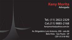 Cartão de visita – Keny Morita (Software – CorelDraw)