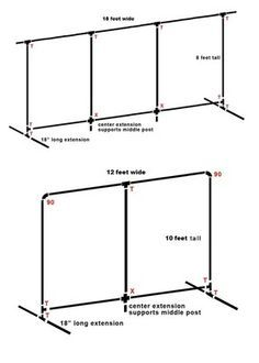 how to make a portable wedding backdrop frame with PVC piping - Google Search                                                                                                                                                                                 More