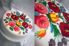 Kalocsa patterned cake from Hungary Cake Cookies, Cupcakes, Most Favorite, My Favorite Things, Hungarian Cake, Patterned Cake, Gorgeous Cakes, Cake Art, Food Truck