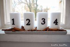 Kuistin kautta: Joulukalenteri 1/24: Adventtikynttilät