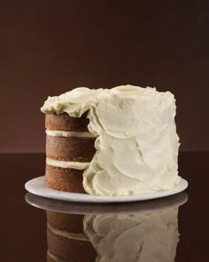 Cream Cheese Frosting| Recipe | Vegetable cakes (such as carrot and zucchini) are the perfect platform for swoops of this tangy cream cheese frosting.  {yield: Makes 6 cups (enough to frost an 8-inch layer cake} // #cake_decorating