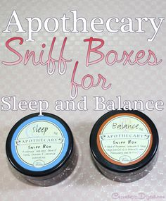 Les Floralies Apothecary Sniff Boxes for Sleep and Balance are aromatherapy blends that soothe and calm.