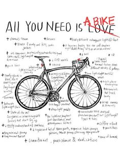 """Cycology Gear - """"All You Need is a bike"""" T-shirt"""