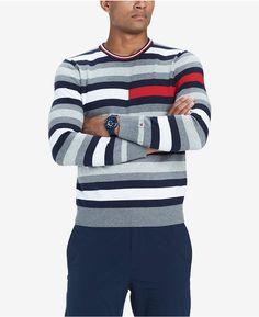 9cc30f2c Men's Julian Logo Stripe Sweater, Created for Macy's