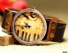 Women Wristwatches Leather Piano Wa..