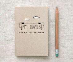 cahier de voyage, crayon, dessins, nuages, mes voyages