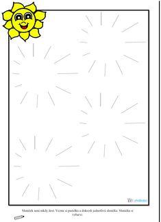 Pracovní list - grafomotorika, kruhy, sluníčko Diy Christmas Cards, Education, Spring, Coloring Pages, Graphic Design, Kindergarten, Summer, Onderwijs, Learning