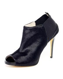 Michael Kors  Genivee Calf Hair Open-Toe Bootie