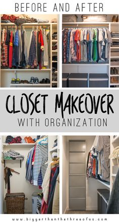 If you have a messy closet and want some tips come over and see this before and after DIY Closet makeover! It's a drastic change!