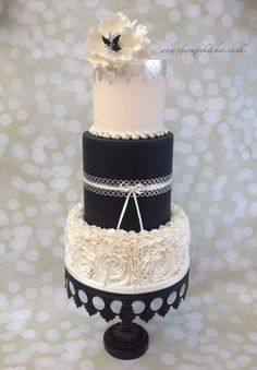 we provide bespoke wedding and celebration cakes in the Vale of Glamorgan, Cardiff and South Wales area. Tall Wedding Cakes, Elegant Wedding Cakes, Beautiful Wedding Cakes, Gorgeous Cakes, Chalkboard Cake, Black And White Wedding Cake, White Cakes, Ruffle Cake, Ruffles