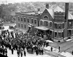 Iron Workers Union strikers storm the Freeborn County Jail in 1937.